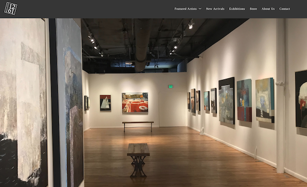 Gallery website with good navigation menu