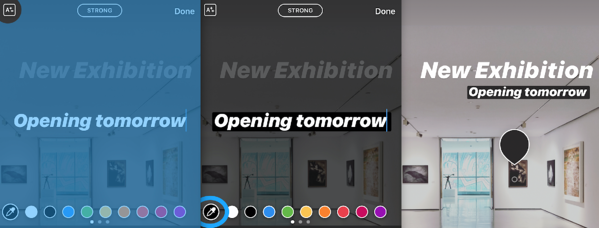Move the text on your Instagram Story