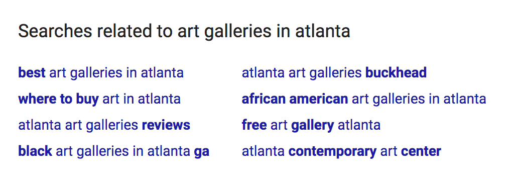 Related search results from Google